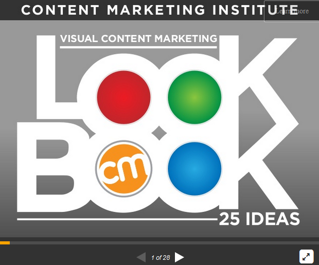 Slideshare-Präsentation zu Visual Content Marketing von Content Marketing Institute